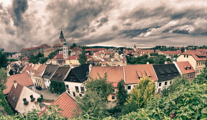Fotomurales - Cesky Krumlov Medieval Architecture and its Vltava River