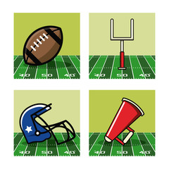 American football icons icon vector illustration graphic design