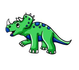 Happy Green Dinosaur