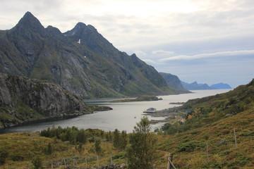 Norvegian fiord Lofoten