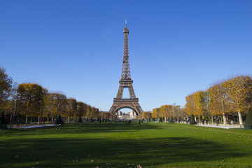 Eiffel Tower in Paris in Autumn