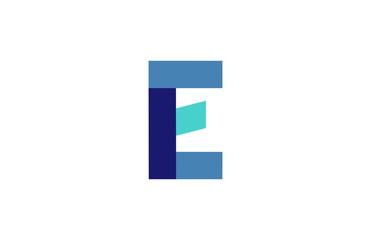 E Blue Ribbon Letter Logo