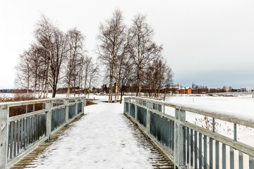The Hupisaaret Islands City Park is a public urban park located in the delta of the River Oulu. Oulu, Finland