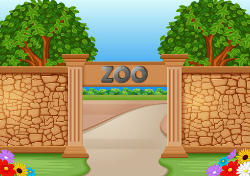 zoo in a beautiful nature