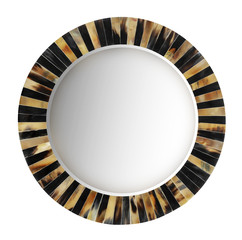 Round mirror with clipping path.
