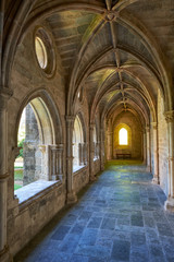 The interior of cloister of Cathedral (Se) of Evora. Portugal