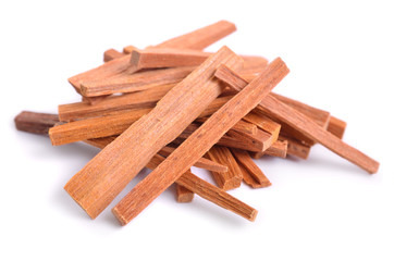 Chandan or sandalwood sticks isolated