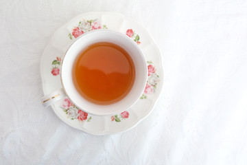 tea cup isolates on white background