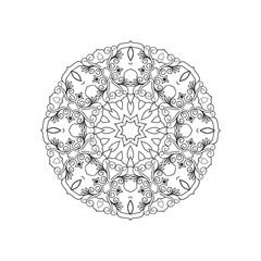 Vector mandala outline