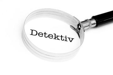 Detektiv-Symbol im Fokus