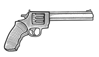 Gun revolver handgun