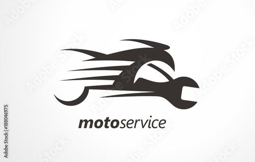 Motor service logo. Motorbike services logo. Design industry vector ...