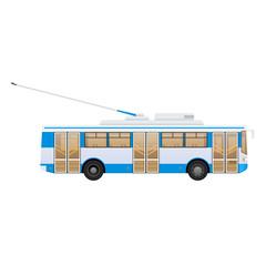 Passenger public modern urban transport: municipal trolley bus.