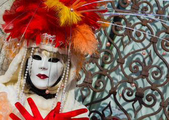 Carnival mask in Venice. The Carnival of Venice is a annual festival held in Venice, Italy. The festival is word famous for its elaborate masks.