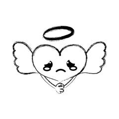 figure crying heart angel kawaii with arms