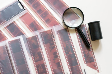 Color film in the sliver and magnifier