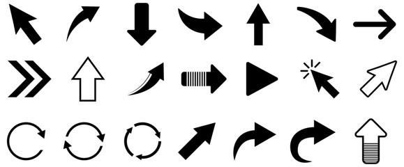 Fototapeta Black arrow vector icon pack obraz