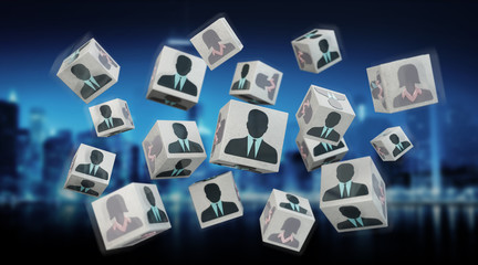 Candidate for a job cube illustration 3D rendering