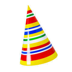 Party hat against white background