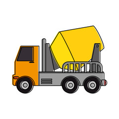 truck mixer concrete icon