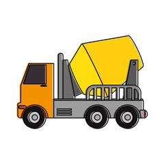 truck mixer concrete icon