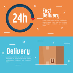free delivery set icons