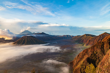 Tengger caldera at Semeru National Park, East Java, Indonesia.