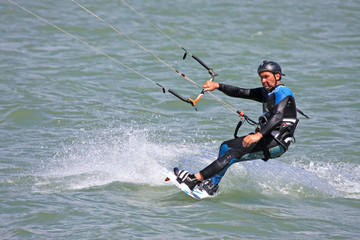 kitesurfer riding
