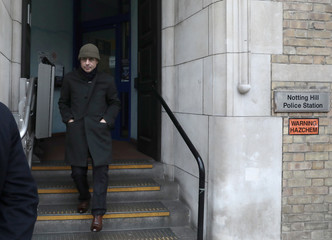 French businessman Alexandre Djouhri leaves Notting Hill Police Station, in London
