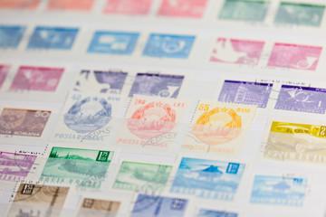 Briefmarken Sammlung aus Album Posta Romana