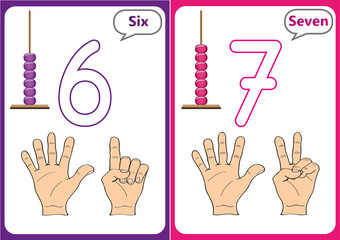 learning the numbers 0-10, Flash Cards, educational preschool activities