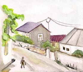 Narrow street of Batumy