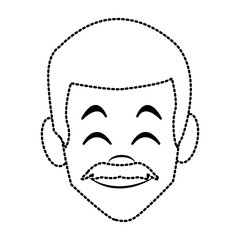 Man face smiling cartoon icon vector illustration graphic design