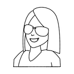 Faceless woman with glasses icon vector illustration graphic design