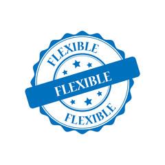 Flexible blue stamp illustration