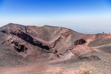 The volcano of Etna, Sicily, Italy. View of one of the lateral craters