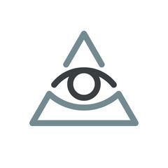 All seeing eye symbol, modern logo concept. Flat icon.