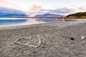 Heart shape on beach