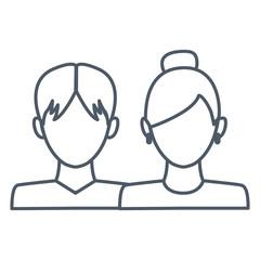 Avatar couple symbol icon vector illustration graphic design