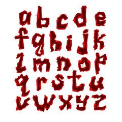 vector latin alphabet