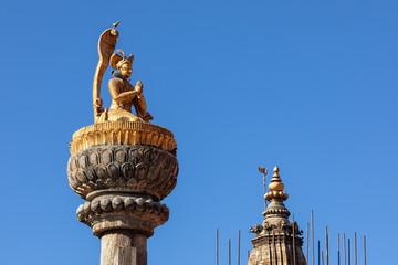 Statue of King Yoganarendra Malla, Patan Durbar Square, Lalitpur, Nepal