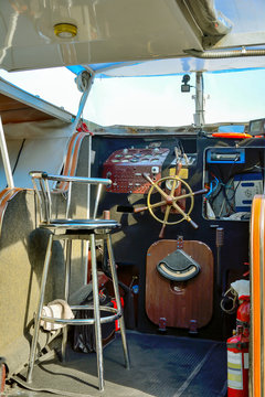 Deck of a pleasure boat