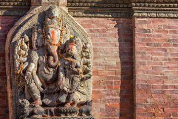 Ganesh Sculpture in front of Sundari Chowk, Lalitpur Durbar Square, Nepal