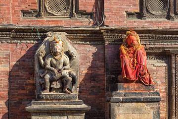 Narasinha and Hanuman in front of Sundari Chowk, Lalitpur Durbar Square, Nepal