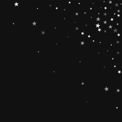Random falling stars. Scattered top right corner with random falling stars on black background. Divine Vector illustration.