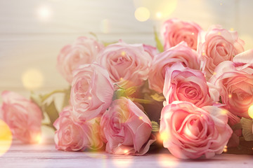 Wall Murals Roses light pink roses