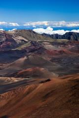 Volcanic crater at Haleakala National Park on the island of Maui, Hawaii.