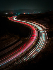 Highway City lights