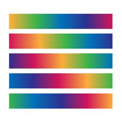 Useful horizontal colorful loading bar