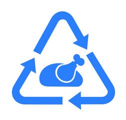 Rescue and Save of food waste - recycling and recovery of rubbish meal and dish. Vector illustration